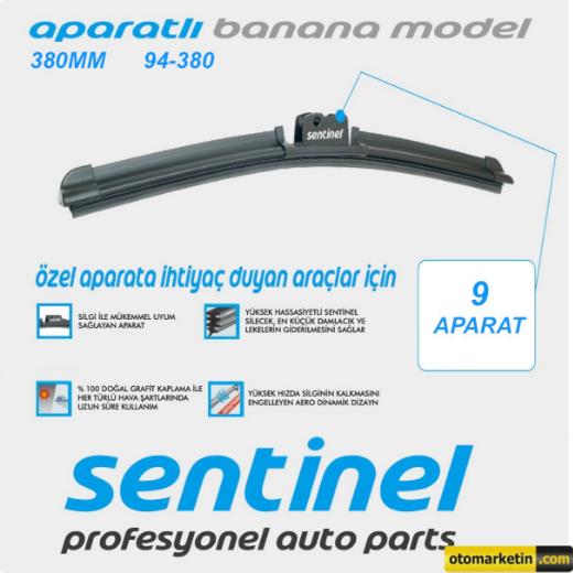 Sentinel 38 Cm Aparatlı Muz Silecek Otomarketincom