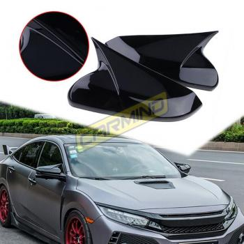 Honda Civic FC5 Batman Yarasa Ayna Kapağı Piano Black