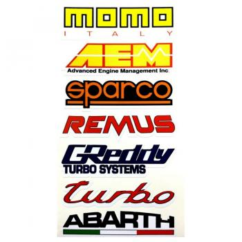 Abarth Turbo Sticker Set