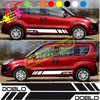 Fiat Doblo Yan Şerit Sticker