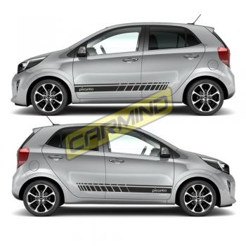 Kia Picanto Yan Şerit Sticker