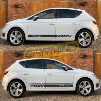 Seat Leon Yan Şerit Sticker 2013-2019