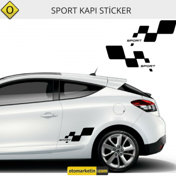 Sport Damalı Sticker