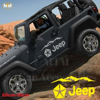 Jeep Dağ Off Road Oto Sticker 1 Adet
