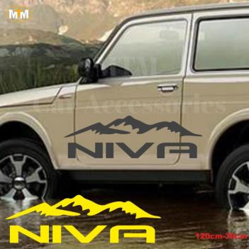 Lada Niva Dağ Off Road Oto Sticker 1 Adet