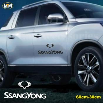 Ssangyong Yan Kapı Off Road Oto Sticker 1 Adet