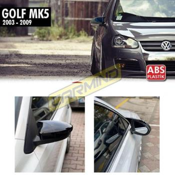 Vw Golf 5 Batman Yarasa Ayna Kapağı Piano Black 2003-2009